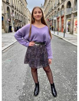 Pull mohair lilas