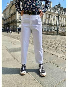 Pantalon mom blanc