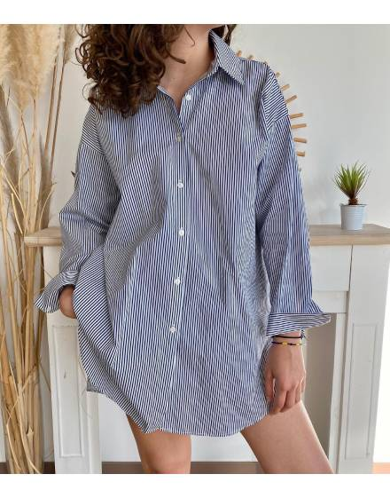 Chemise rayée longue