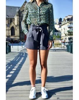 Short femme gris