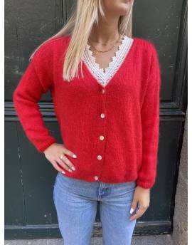 Gilet mohair rouge