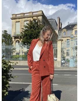 Veste de costume en velours côtelé