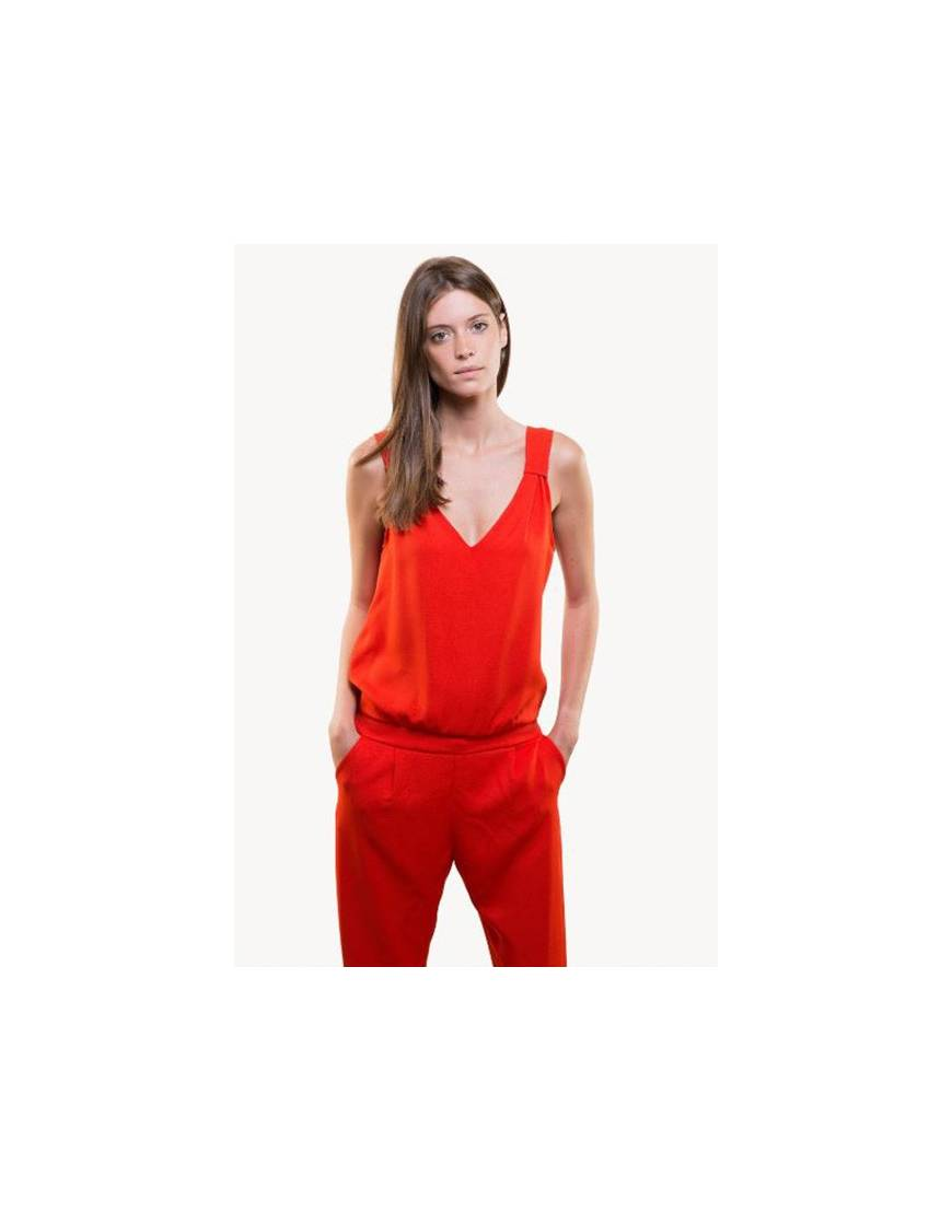 165686f4cf4e9 Combinaison pantalon rouge