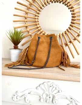 sac camel cuir
