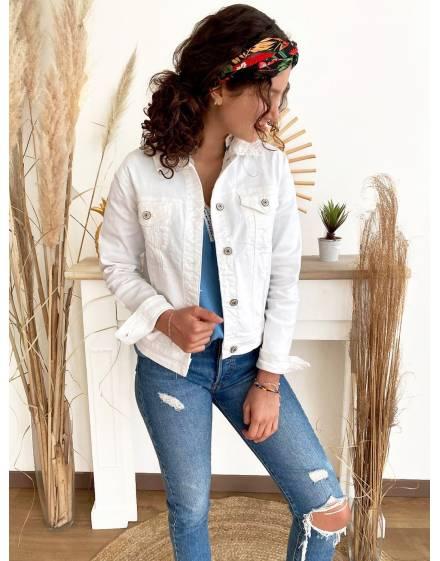 Veste-jean-blanc